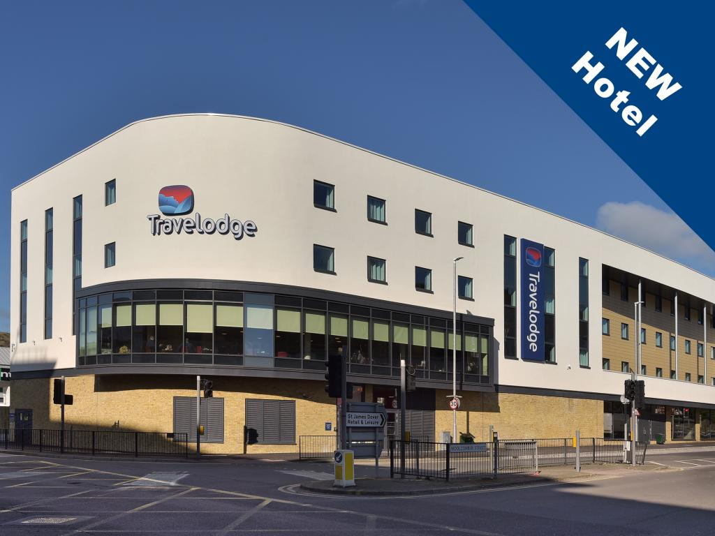 Travelodge Dover, budget hotel, exterior view, St James Retail & Leisure Park