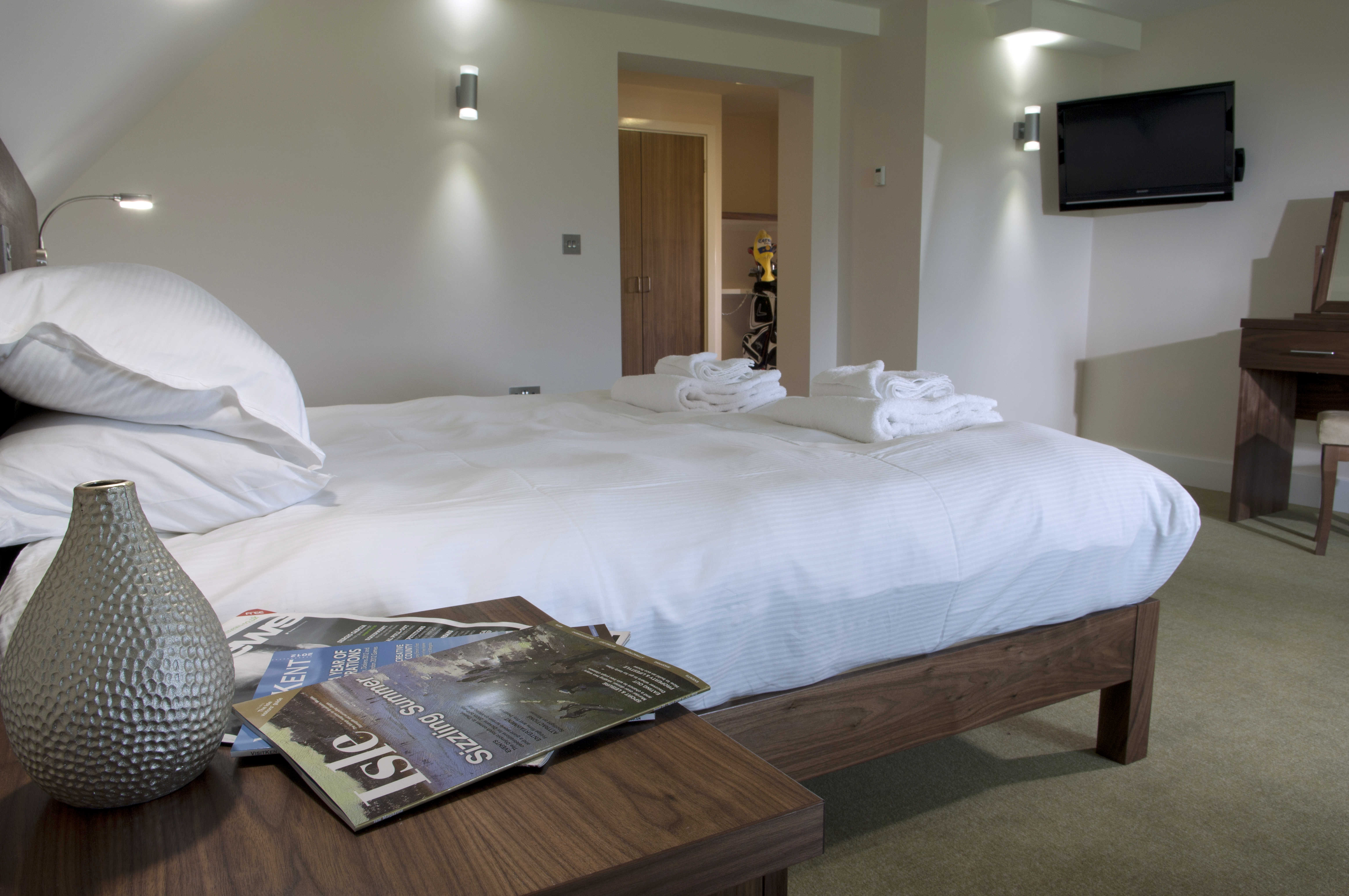 The Lodge at Prince's, Prince's Golf Club, Sandwich, accommodation, double room