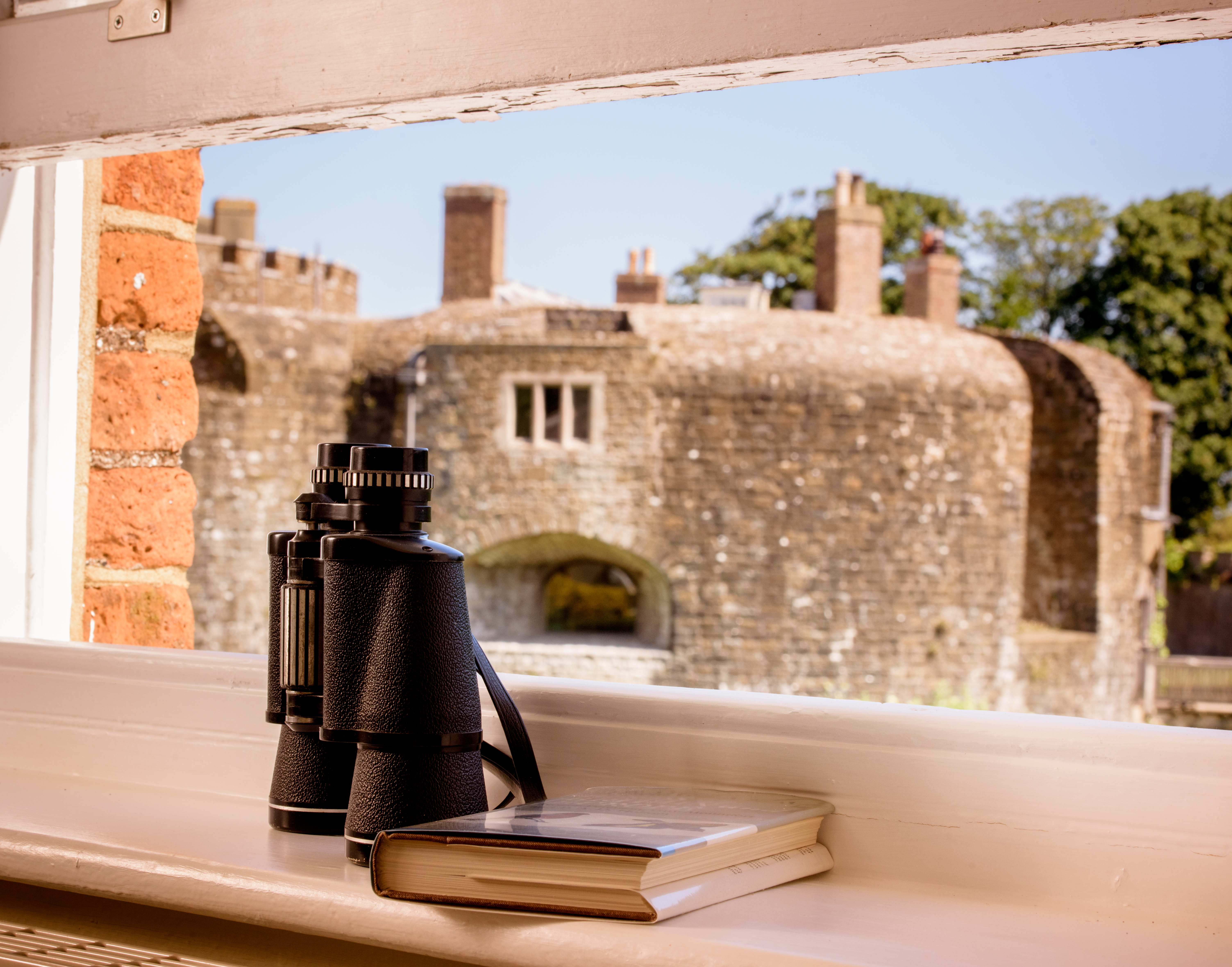 view from apartment window onto Walmer Castle, Deal, Kent, Holiday Apartment, self catering