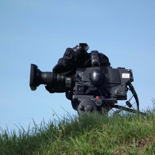 Press and media in White Cliffs Country, filming, camera, Kent