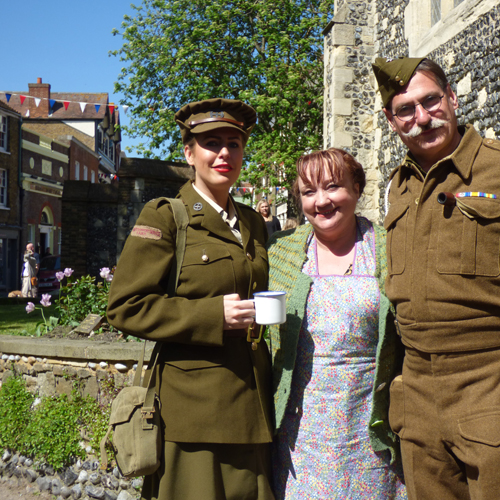 WWII event, Sandwich, Kent, Event in White Cliffs Country