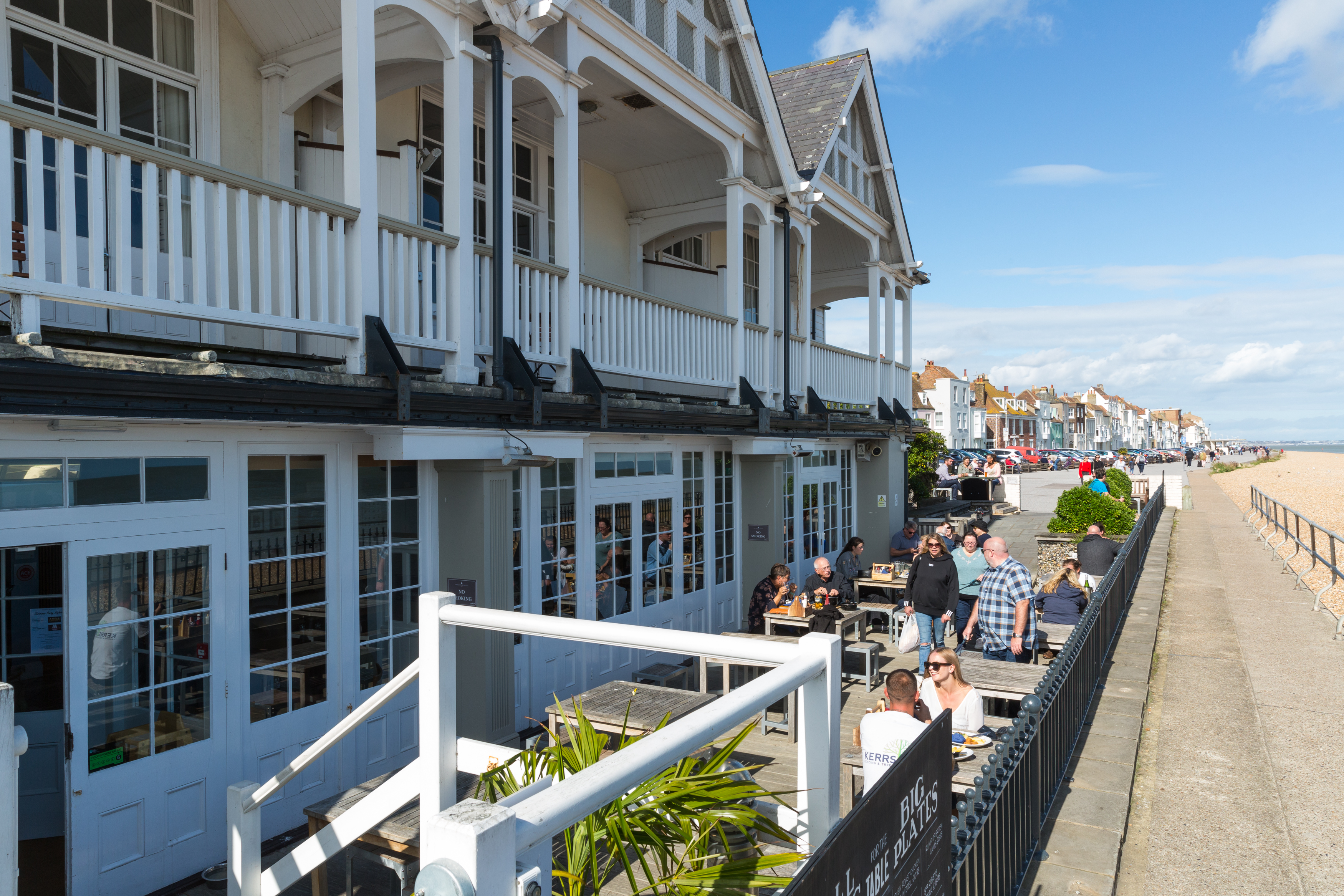 Royal Hotel, Deal, Kent, Seafront, Sea view, decking, beach, Outside Dining