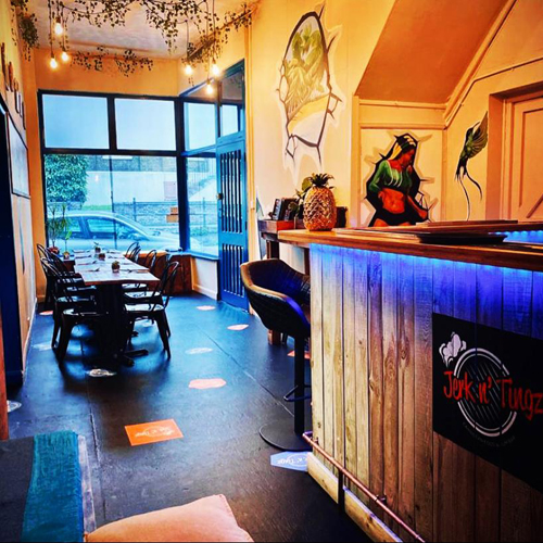 Jerk n' Tingz, caribbean cuisine, restaurant interior, Dover, White Cliffs Country