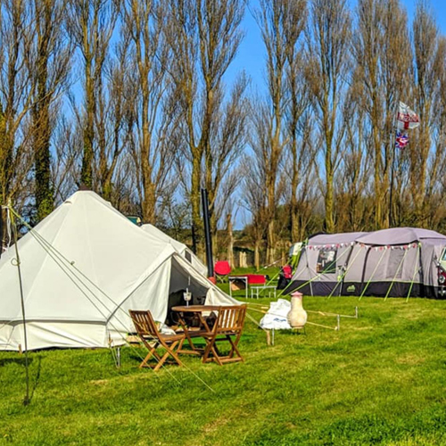 Lillyroo's Glamping and Camping, Deal, tents, camper vans