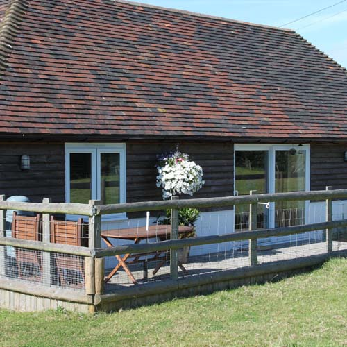 Exterior of Shuttlesfield Barn, self catering accommodation, AONB