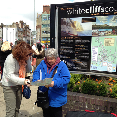Dover Greeters, Market Square, Dover, volunteers, visitor advice
