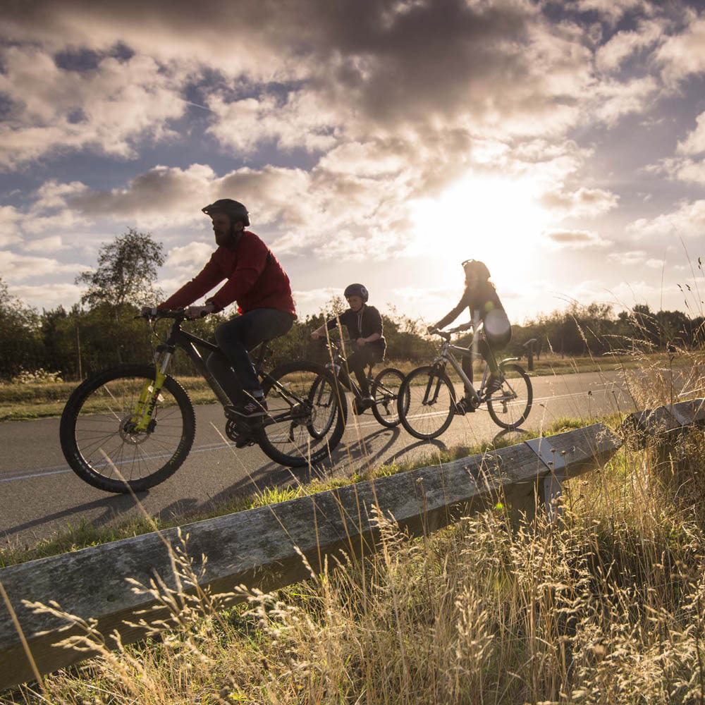 Cycling, Family, Betteshanger park, Deal, Kent