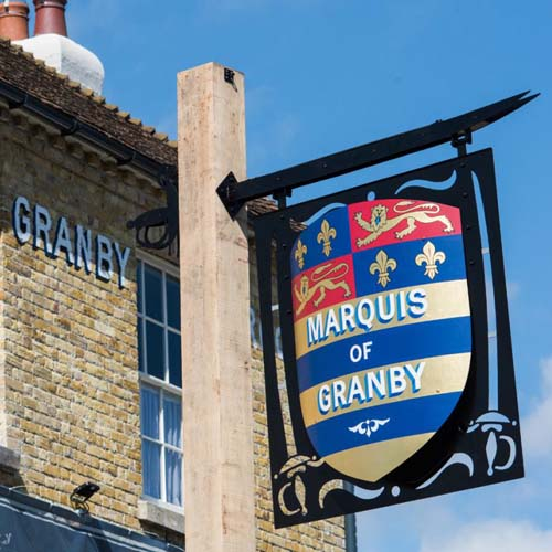 The Marquis of Granby, Alkham, Kent, small hotel, restaurant