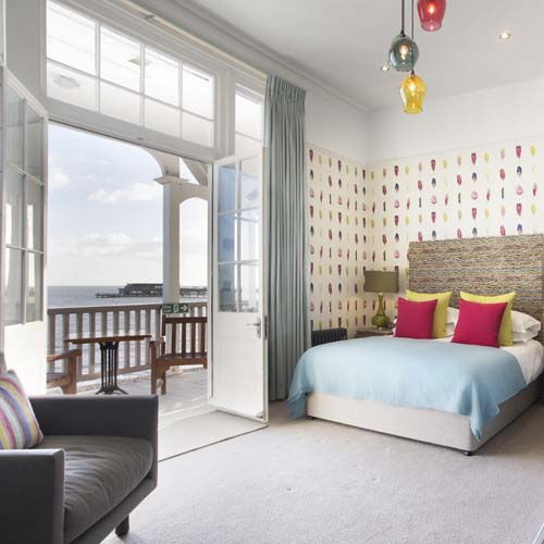 Royal Hotel, Deal, Kent, Seafront, Sea view, Nelson Feature Bedroom