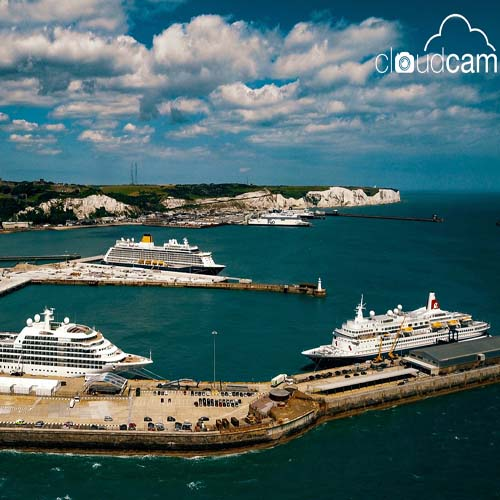 Dover harbour, Ferries, Cruise Ships, Dover, Kent
