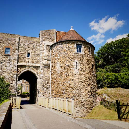Peverell's Tower at Dover Castle exterior view, Dover, place to stay, Kent