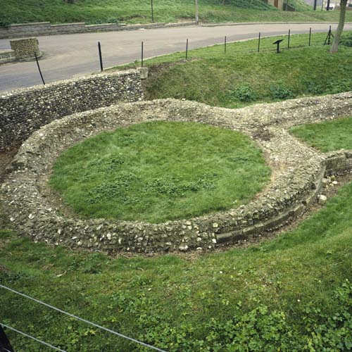 Knights Templar, ruins, Church, Dover, Kent