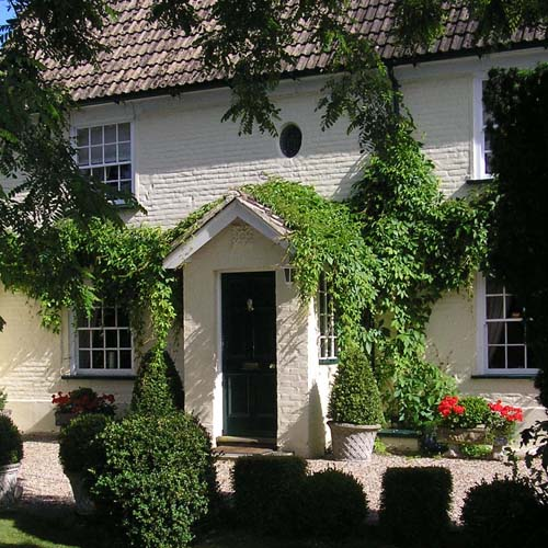 Solley Farmhouse, 18th century farmhouse, guest accommodation, exterior view